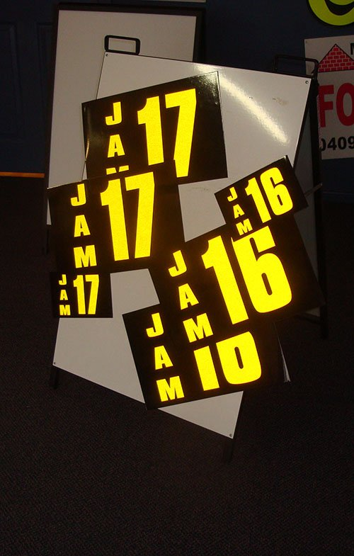reflective mine numbers small