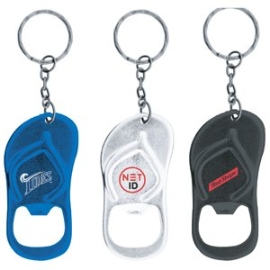 Sandal Shaped Bottle Opener Keychain