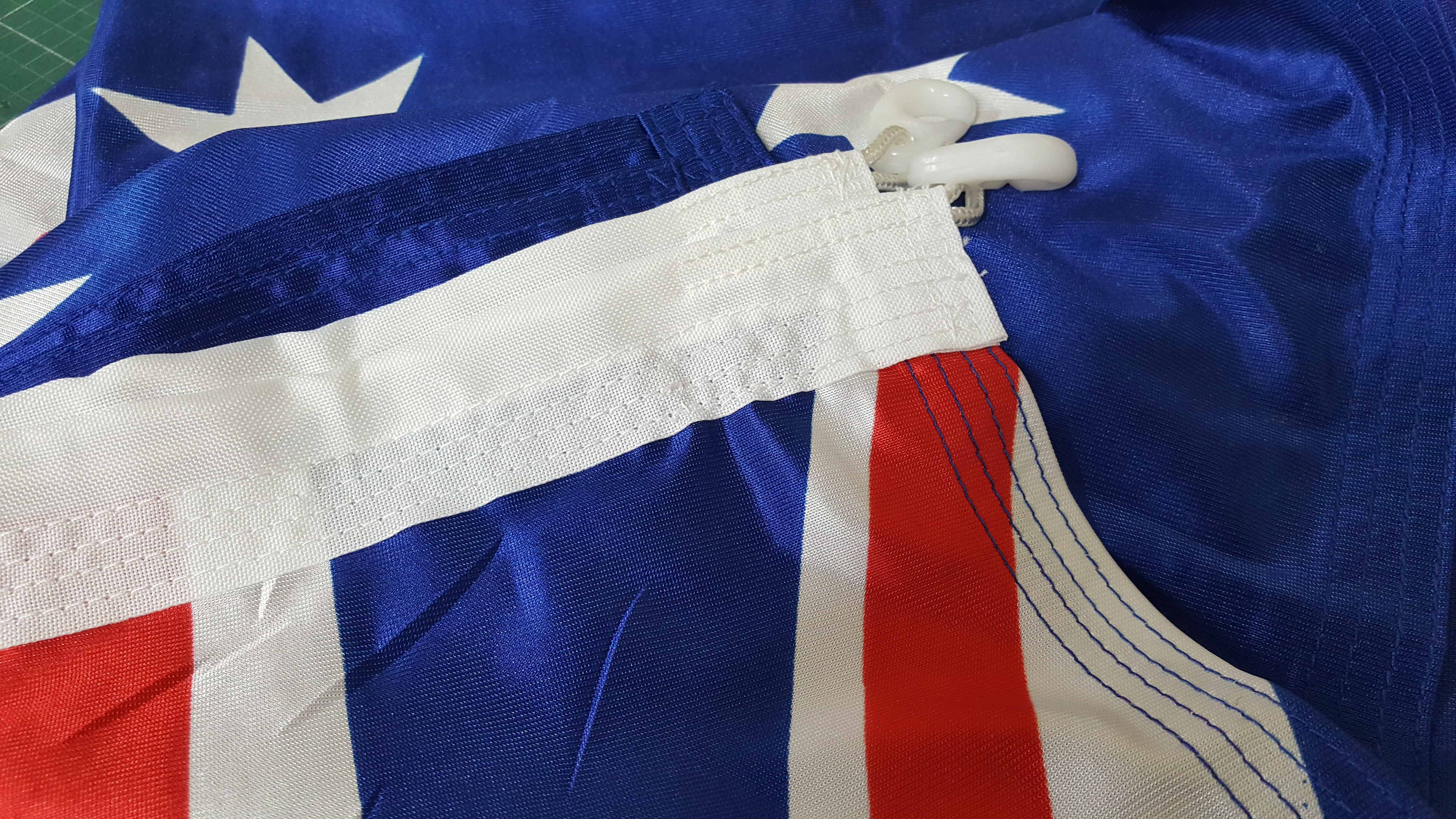 Australian Flag Shiny Knitt Poly