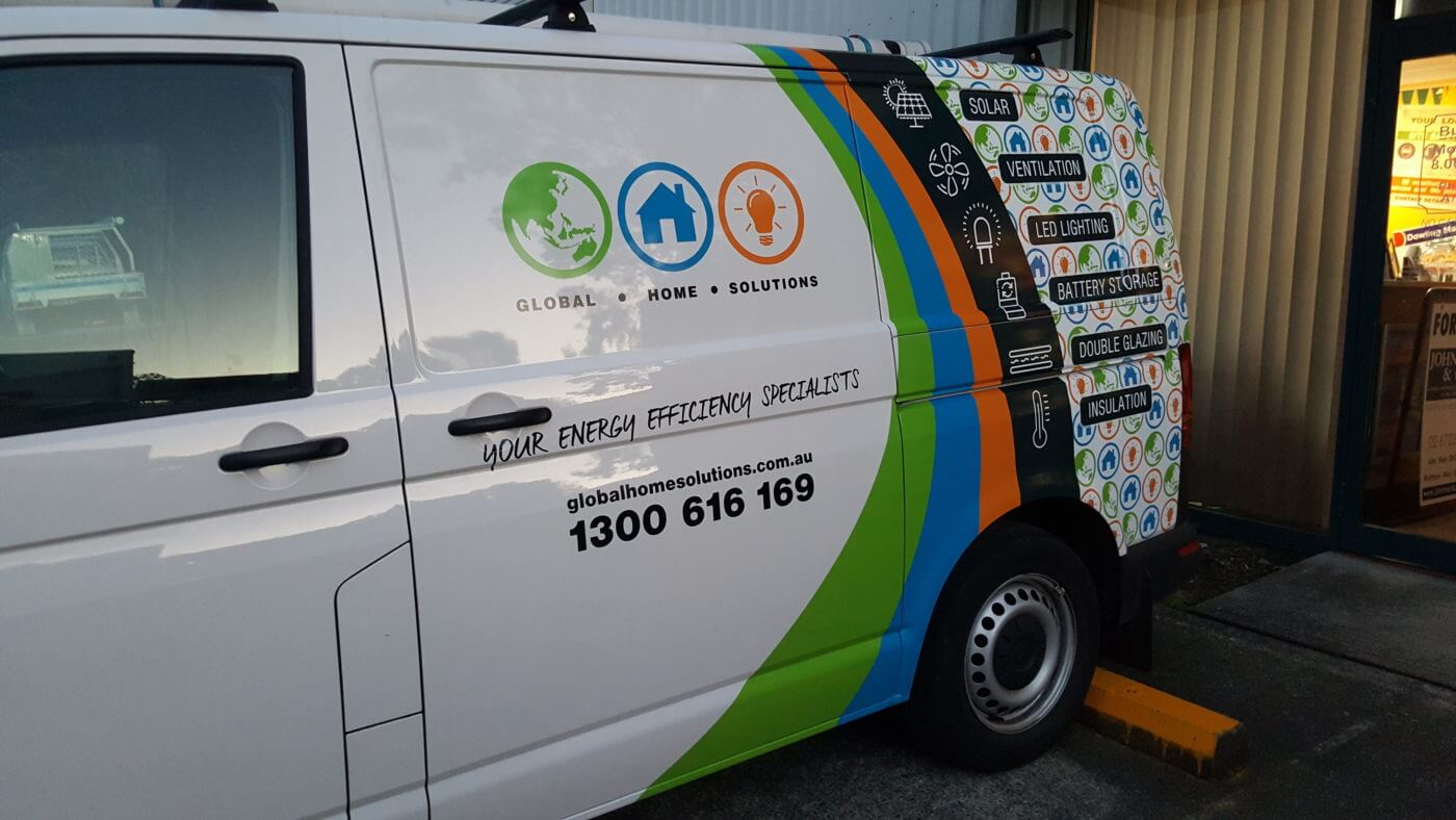 Sign written Van