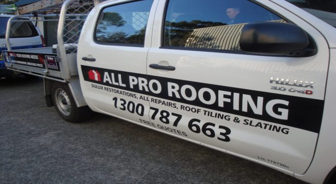 ALL PRO VINYL CUT VEHICLE SIGN