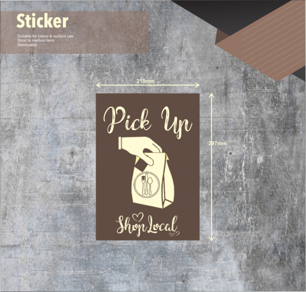 Pick Up Coffee Sign
