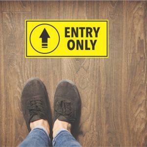 entry floor sticker